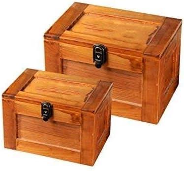XWYSSH主催 長方形オフィス仕上げロック可能な収納ボックスセット大きな木箱は、Officeストレージボックス用品 XWYSSH (色 : 1)