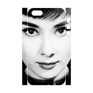 C-EUR Cell phone Protection Cover 3D Case Audrey Hepburn For Iphone 5,5S