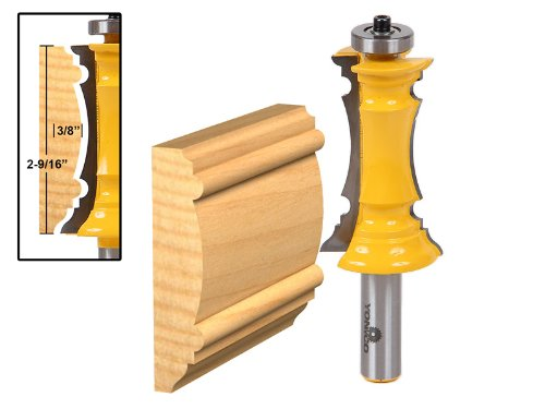 - Yonico 16166 2-1/2-Inch Miter Frame Molding Router Bit 1/2-Inch Shank