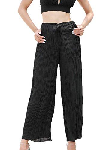 Pingrog Longues Femme Pantalons Taille Ete Uni Jupe Pantalons Haute La Pantalons Mode Manche Chic Loisir Ar avec Ceinture Pantalons De Loisirs Confortable Colour-001