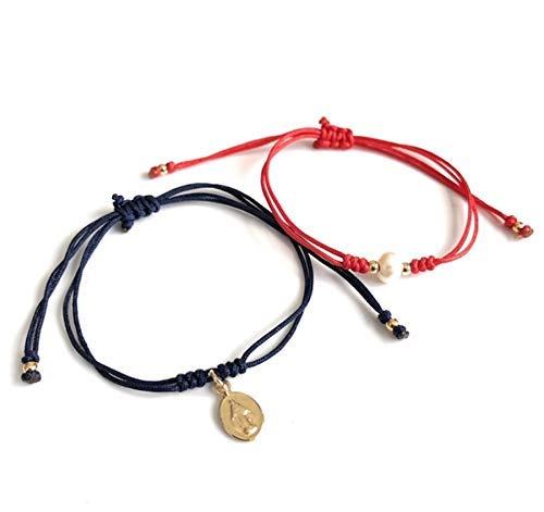 Set of 2 String Matching Bracelets Christmas Catholic Friendship Gifts for Women ()