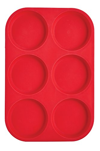 Mrs. Anderson's Baking 43817  6-Cup Muffin Top Pan, Non-Stick European-Grade Silicone]()
