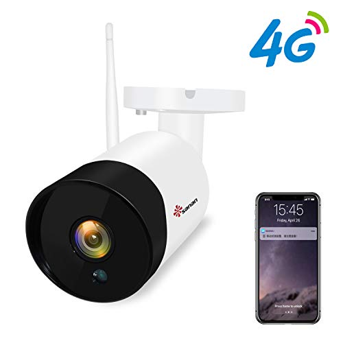 Sanan 4G SIM Card Security Camera for AT&T 1080P Cellular Wireless Camera with Night Vision Motion Detection, Support ONVIF/Max 128G TF Card (US - Card Cellular Wireless