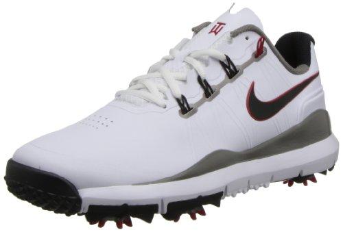 Nike Golf Men's Nike TW '14 Golf Shoe,White/Metallic Pewter/Varsity Red/Metallic Dark Grey,10 M US