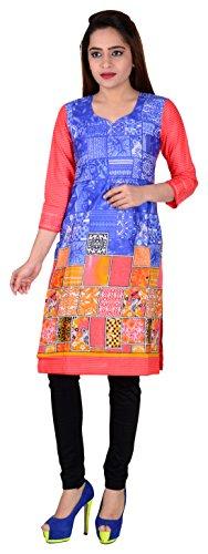 107 SD Fabrics® 100% Pure Cotton Multi Coloured Unstitched Kurti Fabric Material