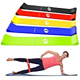 TOPLUS Resistance Bands, Exercise Bands, Set of 5 Exercise Loops Workout Bands for Leg, Ankle, Stretching, Physical Therapy, Yoga and Home Fitness with Carry Bag and Instruction Manual