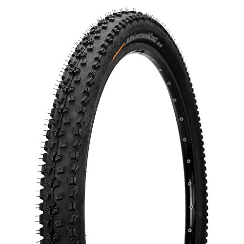 CONTINENTAL Mountain King Mountain Bike Tire, 26 x 2.2 Black One Size Continental Race Tires