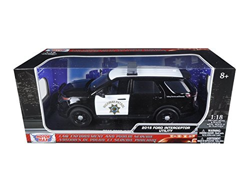 Ford 2015 PI Utility Interceptor CHP California Highway Patrol 1/18 by Motormax 73544