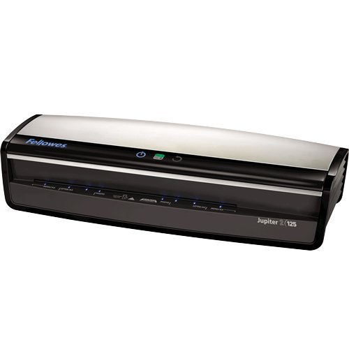 Fellowes Laminator  Jupiter 2 125, Rapid 1 Minute Warm-up Laminating Machine, with Laminating Pouches Kit (5734101) by Fellowes