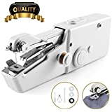 W-Dragon Handheld Sewing Machine, Portable Cordless Handheld Electric Sewing Machine, Quick Handy Stitch for Fabric Clothing Kids Cloth Pet Clothes (Battery Not Included)