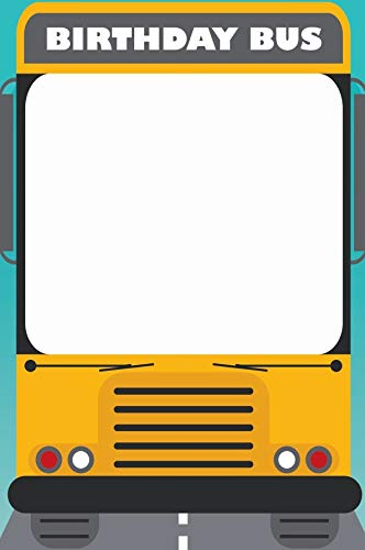 Magic School Bus Birthday Photo Booth Prop sizes 36x24, Back To School, School Supplies, Selfie frame, School Party, Yellow School Bus, Selfie props,Wheels On The Bus,Birthday Decorations -