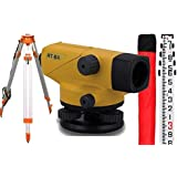 Topcon AT B4 24X Automatic Level (60909) With AdirPro Tripod and Rod Package