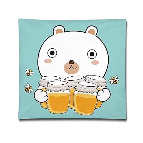 Honey Bear Hugs - ZONEEN Bear Hug Honey Pillow Cushions Cover Throw Pillow Cover Sofa Office Decorative Pillowslip Gift Ideas Household Pillowcase