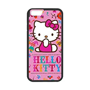 iPhone 6 Plus 5.5 Inch Cell Phone Case Black Hello Kitty Smile L6B1VL