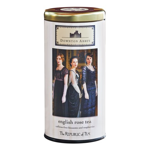 The Republic Of Tea Downton Abbey English Rose Tea Bags, 36 Tea Bags, Rose Hibiscus Tea, Caffeine-Free