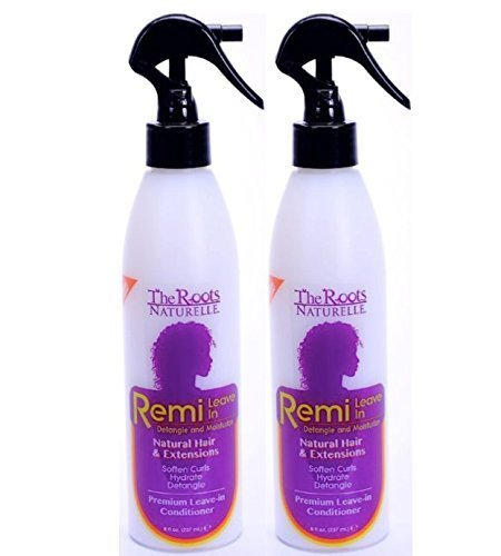 The Roots Naturelle Remi Leave In Conditioner Twin Pack. Hydrates, Detangles, Softens and Moisturizes. Contains Olive Oil, Shea Butter, Coconut Oil and Aloe Vera