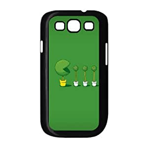 Green Dots Samsung Galaxy S3 Case Design for Men, Samsung Galaxy S 3 Cases Guys [Black]