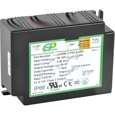 Series C1100 (EPtronics LD40W-36-C1100-RD Power Supply AC-DC 36V@1.1A 90-305V In Encapsulated LED Driver 40W PFC LD Series)