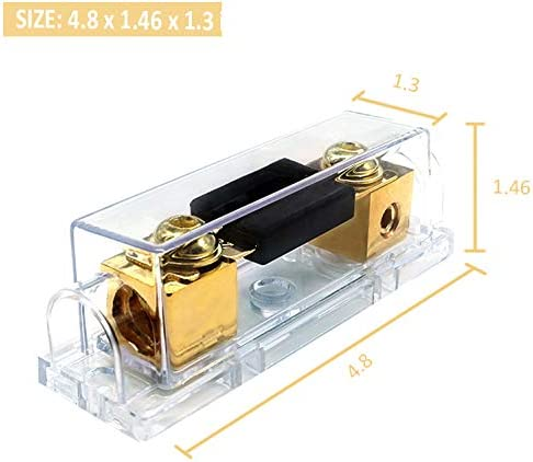 300A ANL Fuse Holder 300 amp 0//2//4 Gauge AWG Inline ANL Fuse Block with 300 Amp Fuse for Car Audio Amplifier 2 Pack