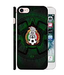 ColorKing Football Mexico 08 Black shell case cover for Apple iphone 7
