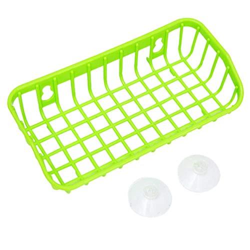 GoodLock Multifunctional Sponge Storage Basket Rack Kitchen Drainage Shelf Double Suction Cup (F) ()