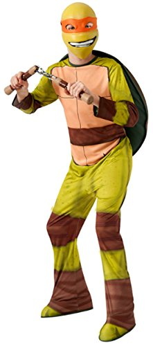 [Teenage Mutant Ninja Turtles Michelangelo Costume, Medium] (Ninja Turtles Child Costumes)