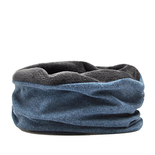 3 in 1 Winter Windproof Neck Gaiter - WinCret Neck Warmer Face Mask with Velvet Lining Simple Beanie Hat for Men Women Kids (Coyote Fur Headband)