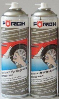 HOHLRAUMVERSIEGELUNG Sparpack ! 2 x 500ml Fö rch Hohlraum-Versiegelungs-Wax-Spray L258, transparent Förch L258/2