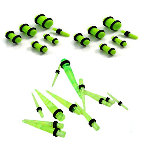 6 Pair Acrylic Ear Stretching Tapers 6 Pairs Ear Plugs Stretcher Kit Foviza Ears Expanding Set