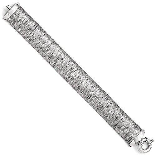20,6 mm Argent 925/1000 poli et texturé 7,5 pouces Bracelet JewelryWeb