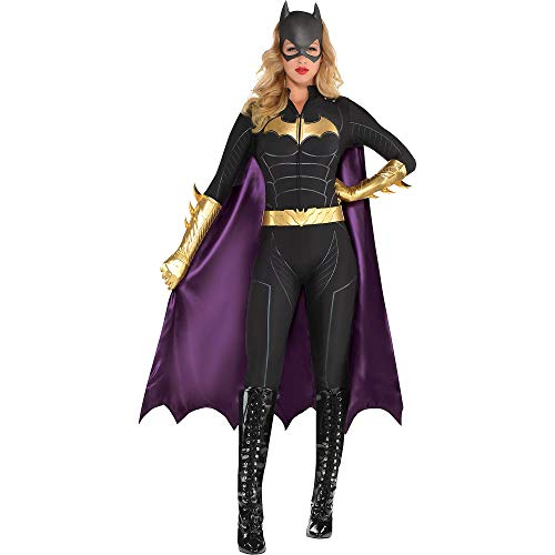 SUIT YOURSELF Batman Batgirl Jumpsuit Costume for Women, Size Extra-Large, Includes a Bat Mask, Cape, a Belt, and Gloves ()