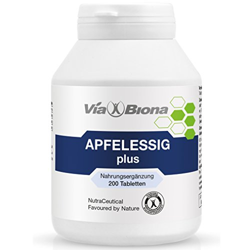 Apfelessig plus, höchstdosierter bioaktiver Fatburner, 200 HighResorp-Tablets, maximaler Pectin-Gehalt