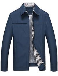 Jenkoon Men's Casual Lightweght Long Sleeve Full Zip Golf Jacket
