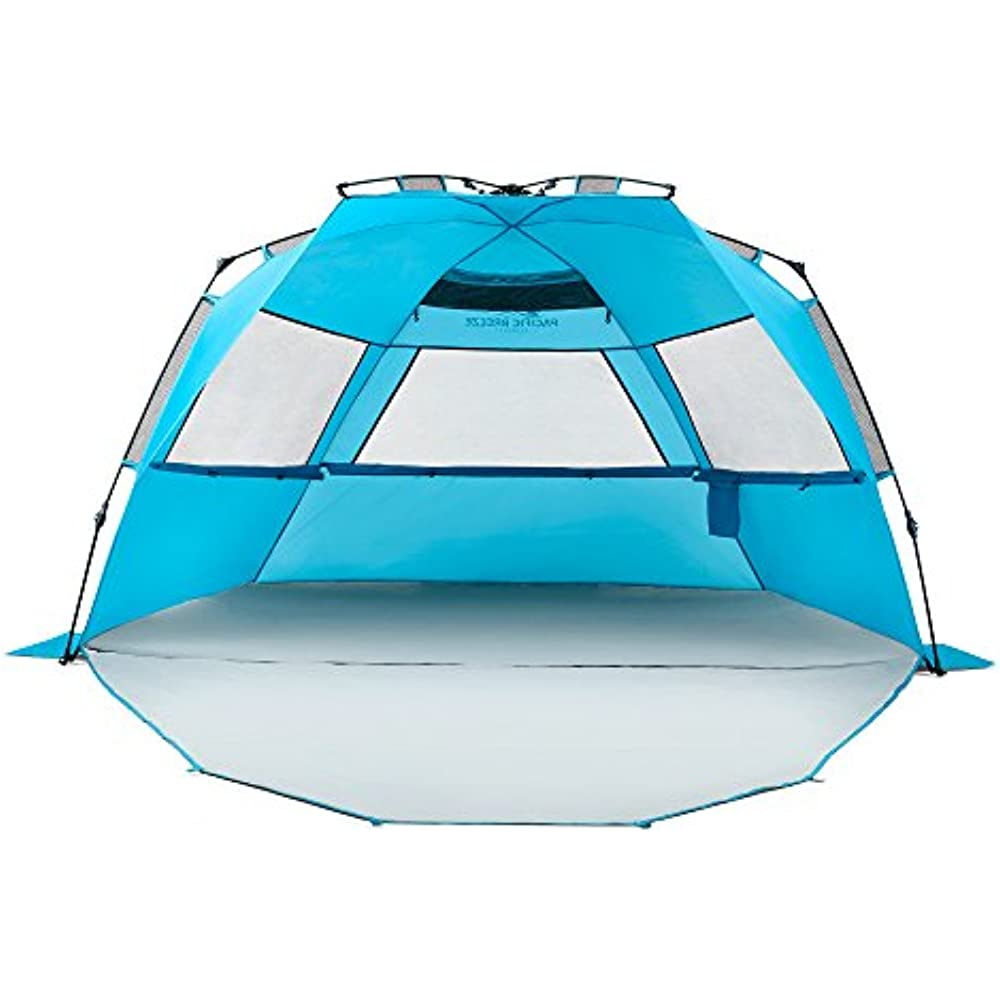 Sun Shelters Pacific Breeze Easy Setup Beach Tent Deluxe