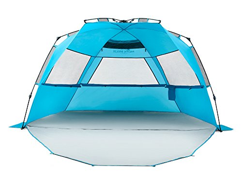 Pacific Breeze Easy Setup Beach Tent Deluxe XL (XL with Extendable -