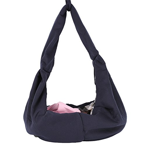 HITOP-Dog-Cat-Pet-Sling-Carrier-Bag-Outdoor-Slings-Carriers-Reversible-Shoulder-Bag-Dark-blue