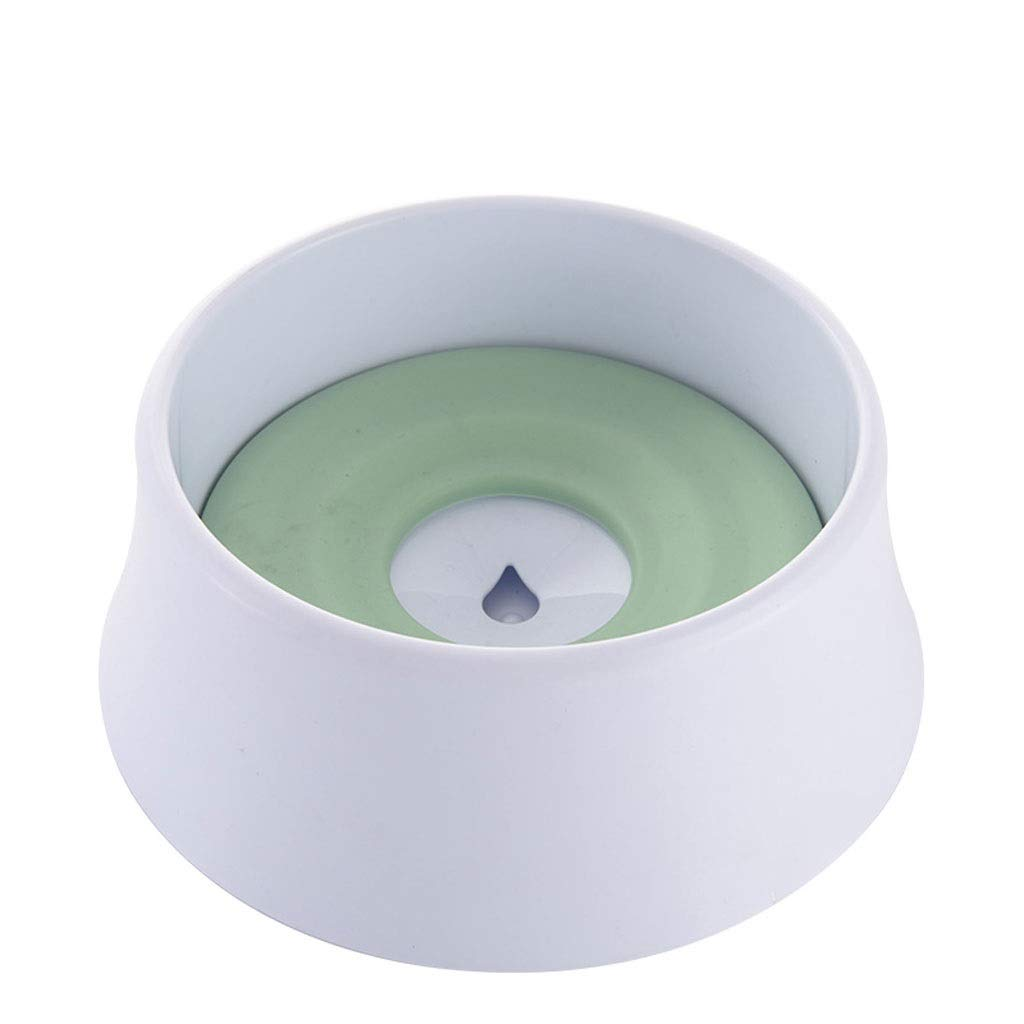 Green Dog Bowl Dog Pot Cat Bowl Drinking Bowl Dog Drinking Fountain Not Wet Mouth Dog Basin Pet Supplies (color   Green)