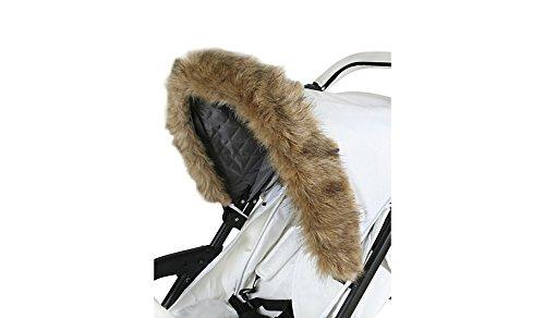 My Babiie Universal Pushchair/Stroller Brown Fur Hood Accessory