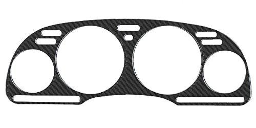 Bezel Overlay - REAL Carbon Fiber Instrument Gauge Cluster Bezel Overlay fit for 1992-1996 Nissan 300ZX