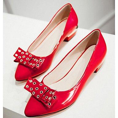 Cómodo y elegante soporte de zapatos Casual soporte de tacón con lazo negro/rojo Walking rojo