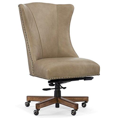 Hooker Furniture Lynn Leather Home Office Chair in Beige