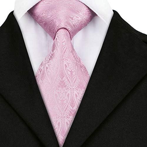 HYCZJH Estilo Tie Moda para Hombre Estampado Floral Color Rosa ...