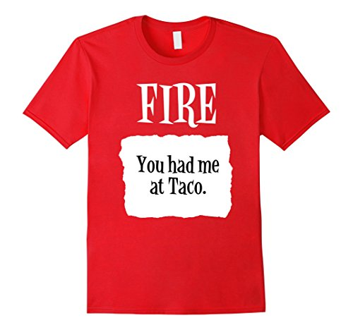 [Mens You Had Me at Taco Fire Hot Sauce Group Halloween Costume 3XL Red] (Hilarious Group Costumes)
