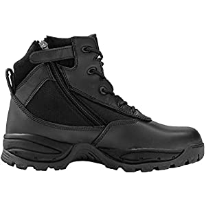 Maelstrom Men's PATROL 6 Inch Waterproof Composite Toe Work Boot with Zipper, Black, 10.5 M US