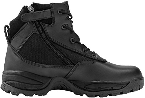 Maelstrom Men's PATROL 6 Inch Waterproof Composite Toe Work Boot with Zipper, Black, 9.5 M - Composite Boots Toe Work