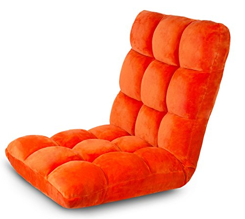 (BirdRock Home Adjustable 14-Position Memory Foam Floor Chair & Gaming Chair (Orange))