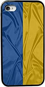 Rikki KnightTM Ukraine Flag Design iPhone 5 & 5s Case Cover (Black Rubber with bumper protection) for Apple iPhone 5 & 5s