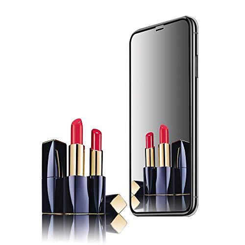 Curves Gold Glass - iPhone Xs Max Screen Protector, Mirror [Anti-Glare] [Anti-Fingerprint] [Anti-Scratch] No Bubble Ballistic Tempered Glass HD 2.5D Curve Edge Screen Protector 6.1