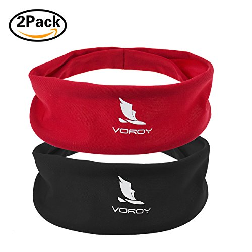 Headbands for Men and Women 2 pack Head Sweatband Best for Sports Running on Yuga Working Out Elastic Bandana Sport Headwear absorbency and comfortable
