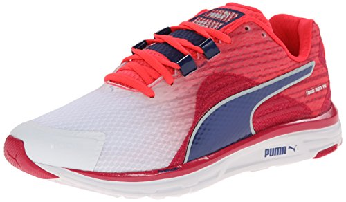 Puma Faas 500 V4 Wn las zapatillas de running White/Virtual Pink/Blueprint/Fluorescent Pink